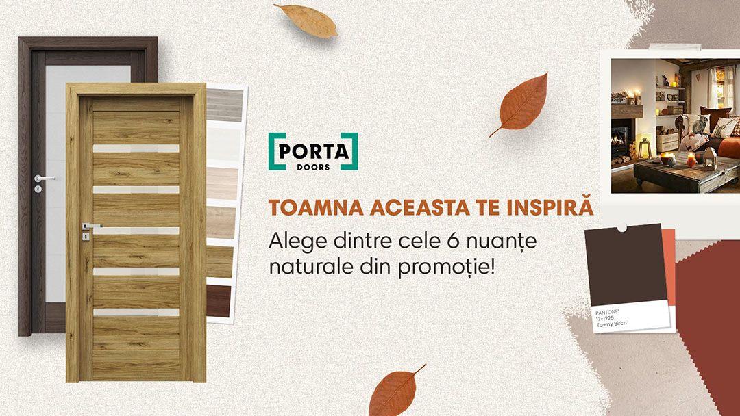 """Promotia """"Culorile toamnei"""". Usi de interior Porta cu design modern sau clasic"""